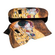 Fridolin - Etui cu textil si protectie ochelari, Klimt Sarutul