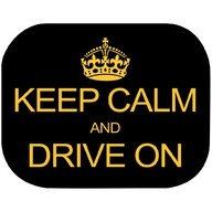 Eurasia Set 2 parasolare Keep Calm and Drive On Eurasia 10940