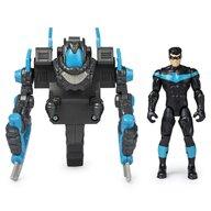 Spin Master - Figurina Supererou Nightwing , DC Universe , 10 cm, Cu mega accesorii pentru lupta
