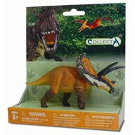 Collecta - Figurina Dinozaur Torosaurus Pictata manual, Pe platforma