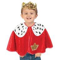 Fries - Set pelerina si coroana pentru deghizare Rege 92 cm