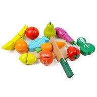 Ecotoys - Set de joaca Fructe si legume din Lemn