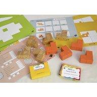 Genii Creation - Joc magnetic educativ din lemn Figuri geometrice 9 piese