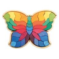 GRIMM'S Spiel und Holz Design - Fluturele Curcubeu - puzzle senzorial si creativ