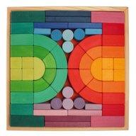 GRIMM'S Spiel und Holz Design - Set de construit Romanesque, cu piese mari