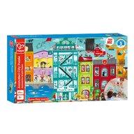 Hape - Puzzle peisaje Orasul animat , Puzzle Copii, piese 49