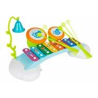 Hola Toys - Jucarie bebelusi, Xilofon, cu doua tobe