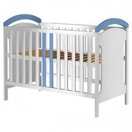 Hubners Patut copii din lemn Hansell 120x60 cm alb-albastru