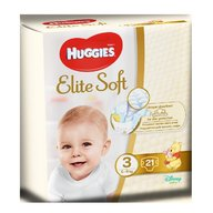 Huggies - Elite Soft (nr 3) Convi 21 buc, 5-9 kg