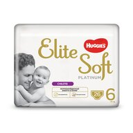 Huggies - Elite Soft Pants Platinum (6) Mega  26buc, 15+ kg