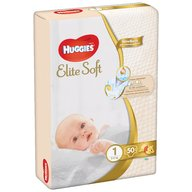 Huggies - Elite Soft (nr 1) Jumbo 50 buc, 3-5 kg