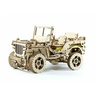 Wooden City - Puzzle 3D Jeep Willys MB 4x4 , Puzzle Copii , Mecanic, piese 569