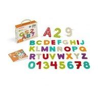 Miniland - Set creativ Litere si Numere , Pentru insirat, Din materiale ecologice