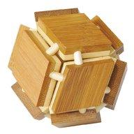 Fridolin - Joc logic IQ din lemn bambus 3D Magic box