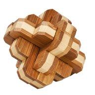 Fridolin - Joc logic IQ din lemn bambus 3D Round Knot