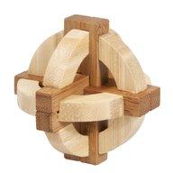 Fridolin - Joc logic IQ din lemn bambus in cutie metalica-1