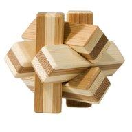 Fridolin - Joc logic IQ din lemn bambus Knot, cutie metal