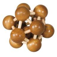 Fridolin - Joc logic IQ din lemn de bambus Atom 3D