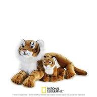 Jucarie de plus, National Geographic Tigru cu pui 48cm