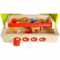 Kruzzel - Jucarie din lemn 2 in 1 Banc de lucru si Cutie cu scule cu accesorii incluse  MY17253