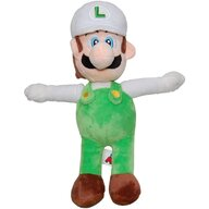Play by Play - Jucarie din plus Luigi 31 cm, Cu sapca Super Mario, Alb