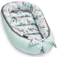 Jukki - Cosulet bebelus pentru dormit Baby Nest Cocoon XL 90x50 cm, In garden mint