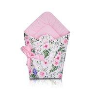 Jukki - Paturica infasat tip port bebe In garden, Pink