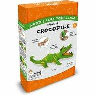 Fiesta Crafts - Kit constructie lemn si argila - Crocodil
