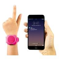 Lapa - Kit localizator bluetooth de urmarire copii+bratara din silicon+Cadou Set 2 semnalizatoare luminoase Proviz, Pink