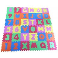 Knorrtoys - Covor puzzle din spuma Alphabet and Numbers 36 piese
