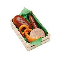 Erzi - Ladita cu produse de patiserie asortata din lemn,