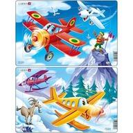 Larsen - Set 2 Puzzle-uri Avioane 13 piese