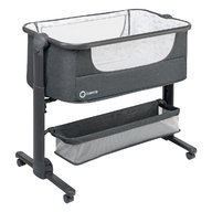 Lionelo - Patut 3 in 1 Co-Sleeper Timon, Pliabil, Dark Grey
