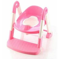 Little Mom - Reductor pentru toaleta cu scarita Stair Potty Pink