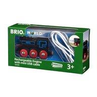 BRIO - Locomotiva , Reincarcabila, Cu cablu USB