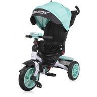 Lorelli - Tricicleta multifunctionala 4in1, Speedy, roti cu camera, scaun rotativ, Green and Black