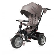 Lorelli - Tricicleta pentru copii Jaguar Air, multifunctionala, 4 in 1, roti mari cu camera,  Ivory