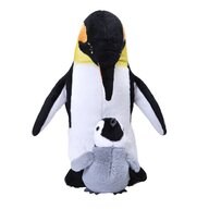 WILD REPUBLIC - Jucarie din plus Pinguin , Mama si puiul