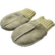Altabebe - Manusi din piele si blanita de miel cu mansete tricotate