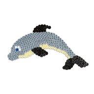 Hama - Set margele de calcat Delfinul In cutie, 2000 buc, Cu 1 plansete de lucru Midi