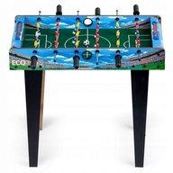 Ecotoys - Masa De Fotbal Din Lemn 69x36 cm, Albastru