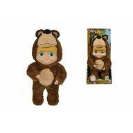 Simba - Papusa Masha , Masha and The Bear , 25 cm, In costum de urs, Multicolor