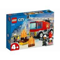 LEGO - Set de constructie Masina de pompieri cu scara ® City, pcs  88