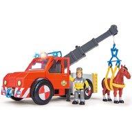 Simba - Masina de pompieri Fireman Sam Phoenix cu figurina, cal si accesorii