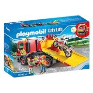Playmobil - Masina de remorcare cu motocicleta