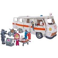 Simba - Masina Masha and the Bear Ambulance cu accesorii