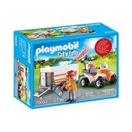 Playmobil - Medic cu ATV si remorca
