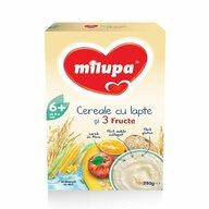 Milupa - Cereale cu lapte si 3 fructe, 250g