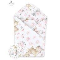 MimiNu - Paturica de infasat multifunctionala standard, 75x75 cm, Sweet Deer Pink