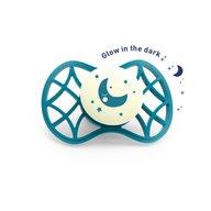 Nuvita - Air.55 Cool! Suzeta simetrica de noapte cu capac protector 0 luni+, Glow Emerald